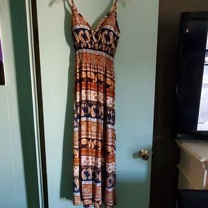 Spaghetti strap long dress